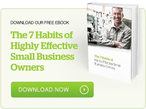 The 7 Habits of Highly Effective Small Business Owners eBook is a free resource to help you bridge the gap between working in versus on your business.